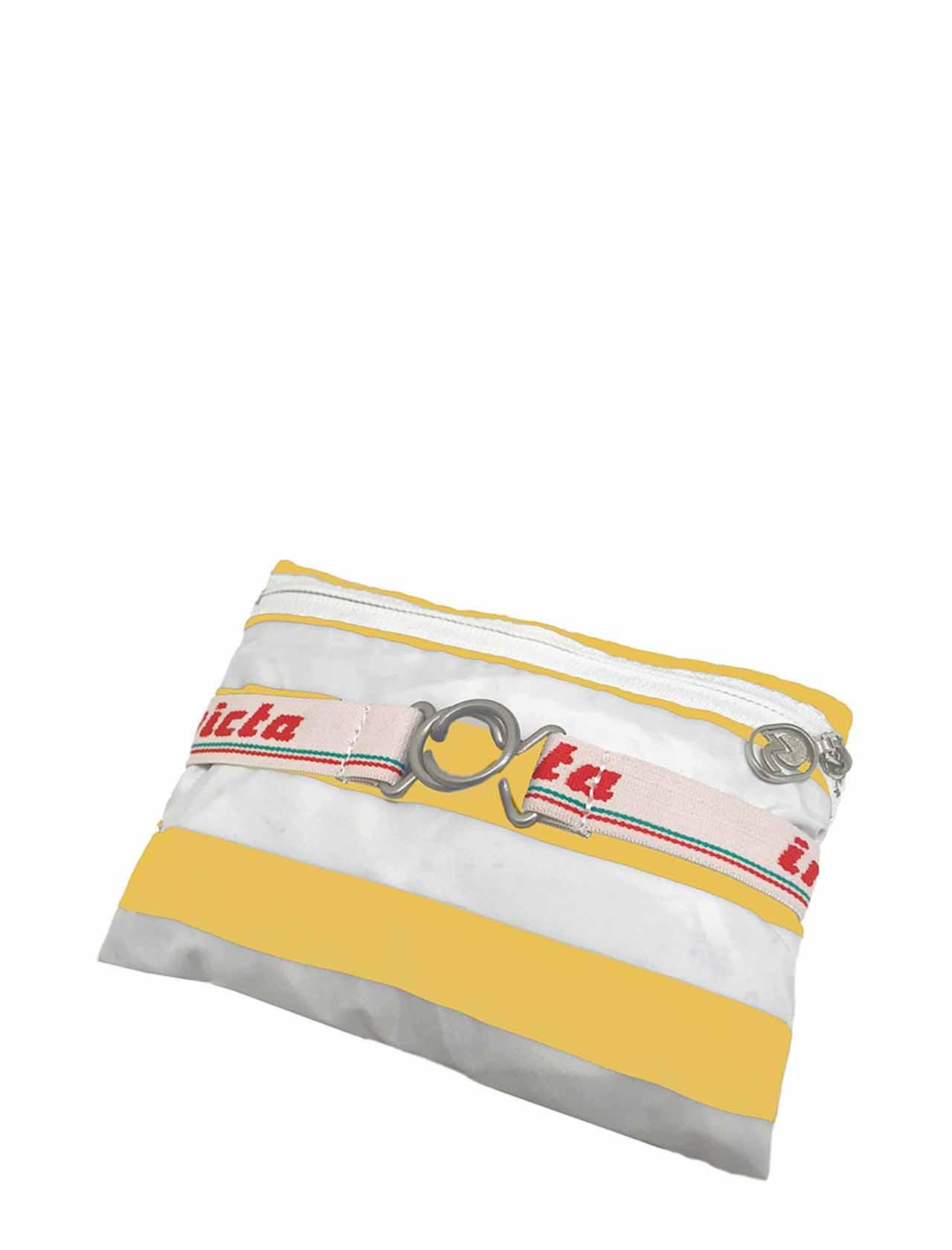 Zaino Unisex Iconico Minisac Bianco e Giallo Ripiegabile 206001662 Invicta   Borse e zaini   MINISAC236