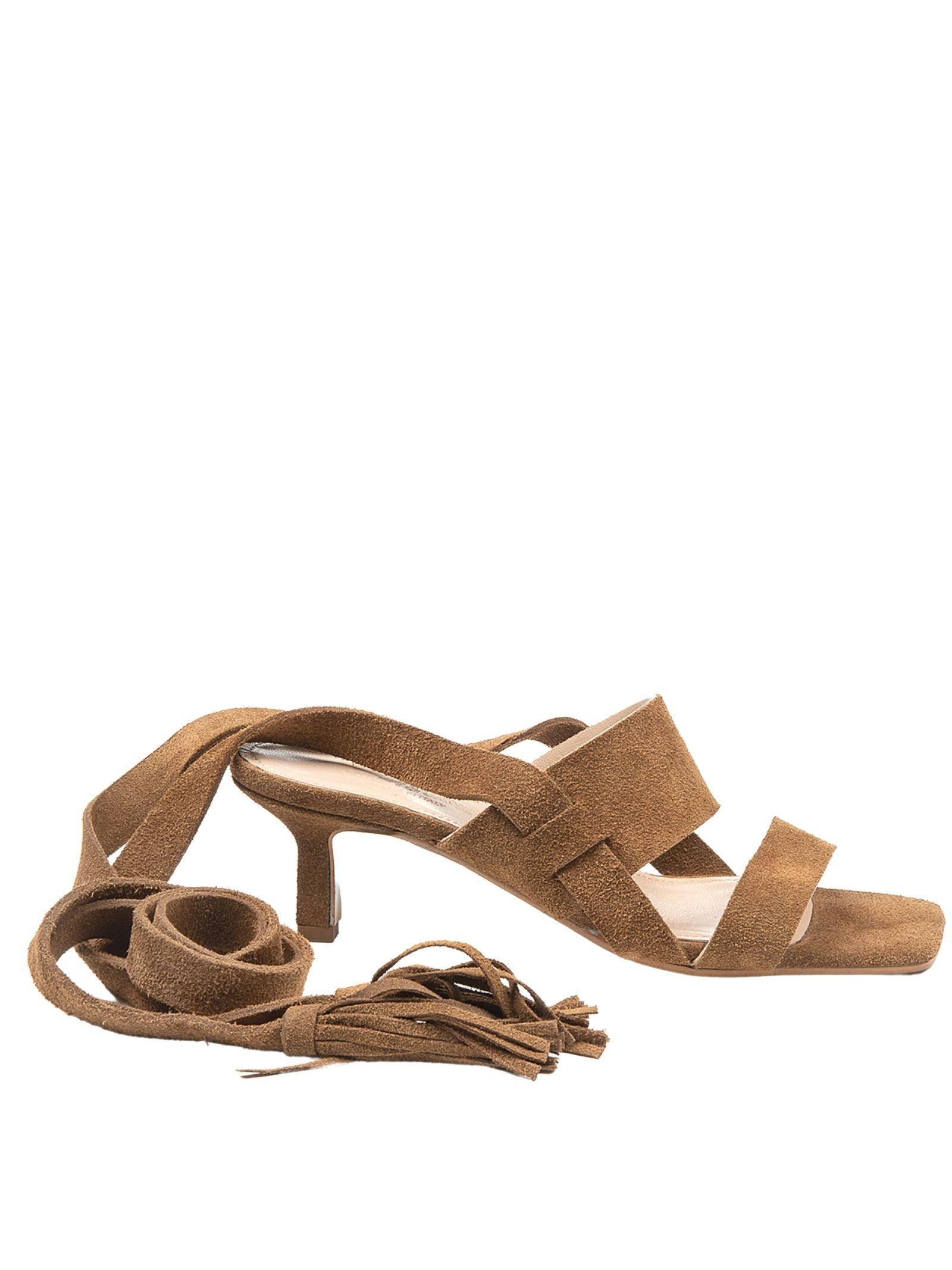 Women's Shoes Sandals in Leather Suede with Double Band and Ankle Laces Janet & Janet | Sandals | 01151014