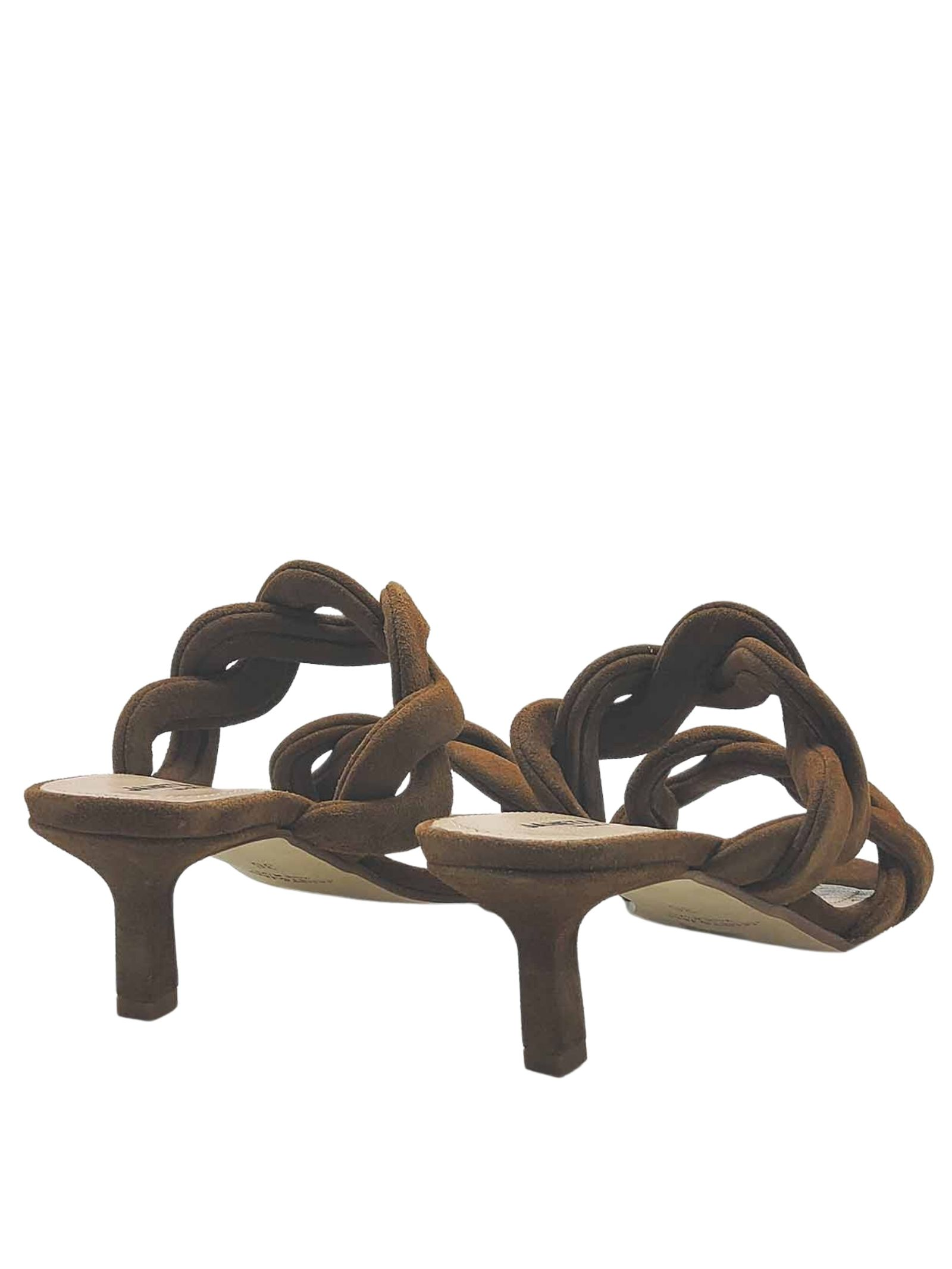 Women's Shoes Sandals in Leather Suede with Double Braided Band Heel 60 Janet & Janet   Sandals   01153014