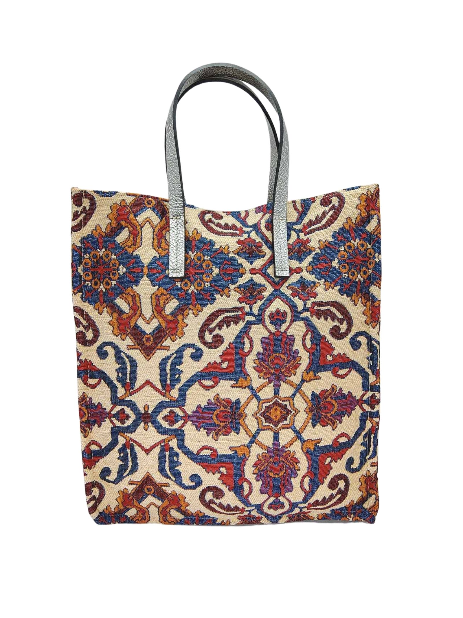 Borse Donna Shopping in Tessuto Panna Fantasia Jacquard con Doppio Manico Kassiopea   Borse e zaini   UMIL016