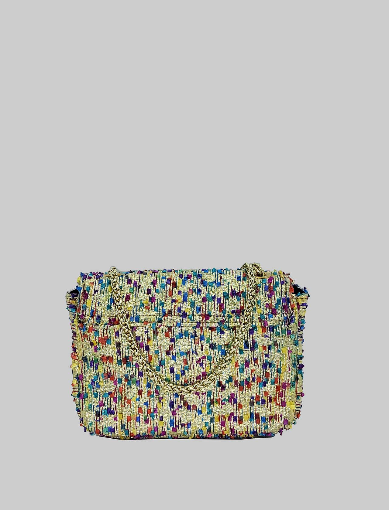 Women's Bags Clutch Bag in Powder Fabric with Gold Chain Kassiopea | Bags and backpacks | URIEL301