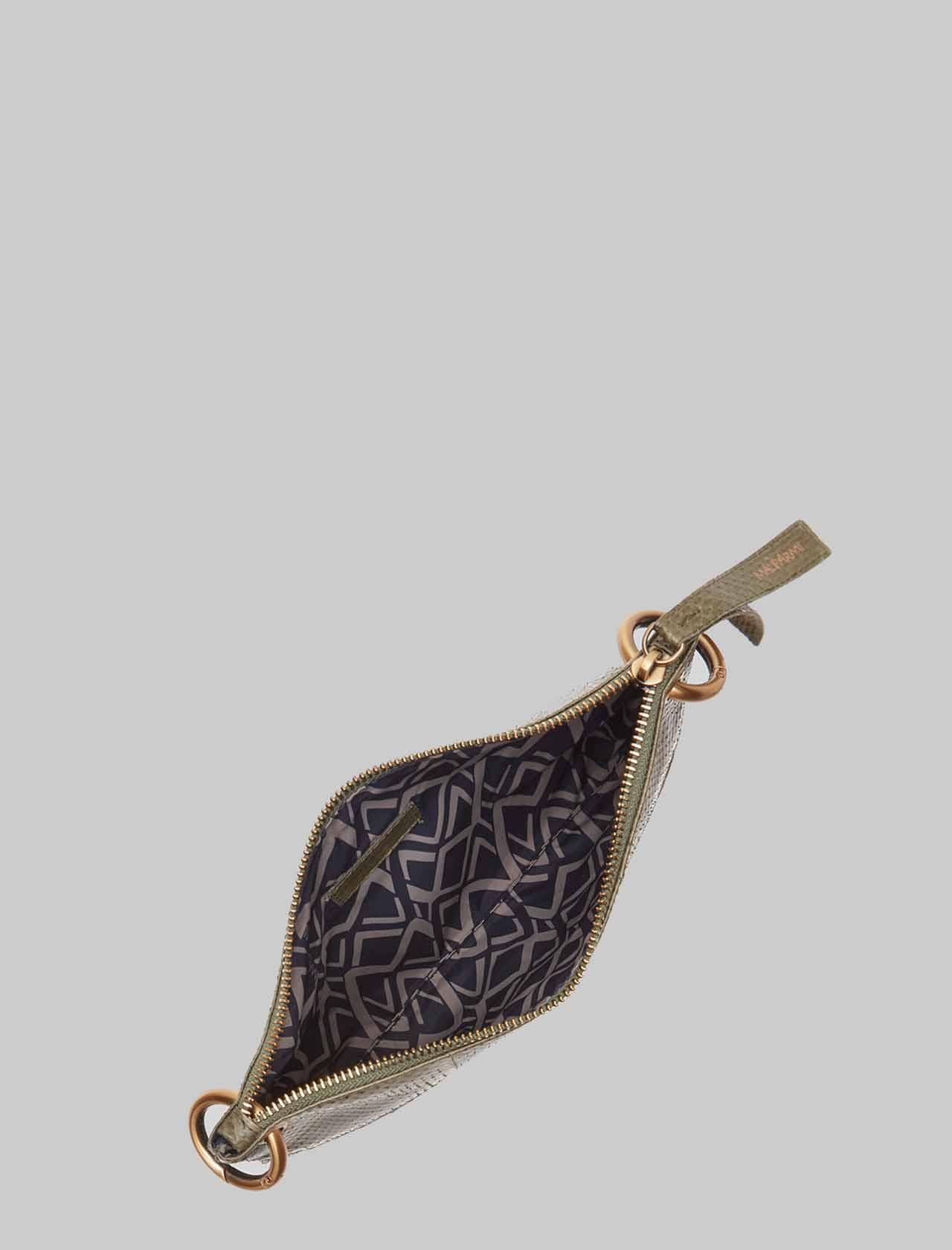 Borsa Donna Tracolla Piccola Exotic Woven in Wips Verde con Tracolla Removibile in Tinta Maliparmi | Borse e zaini | BD00670143660010