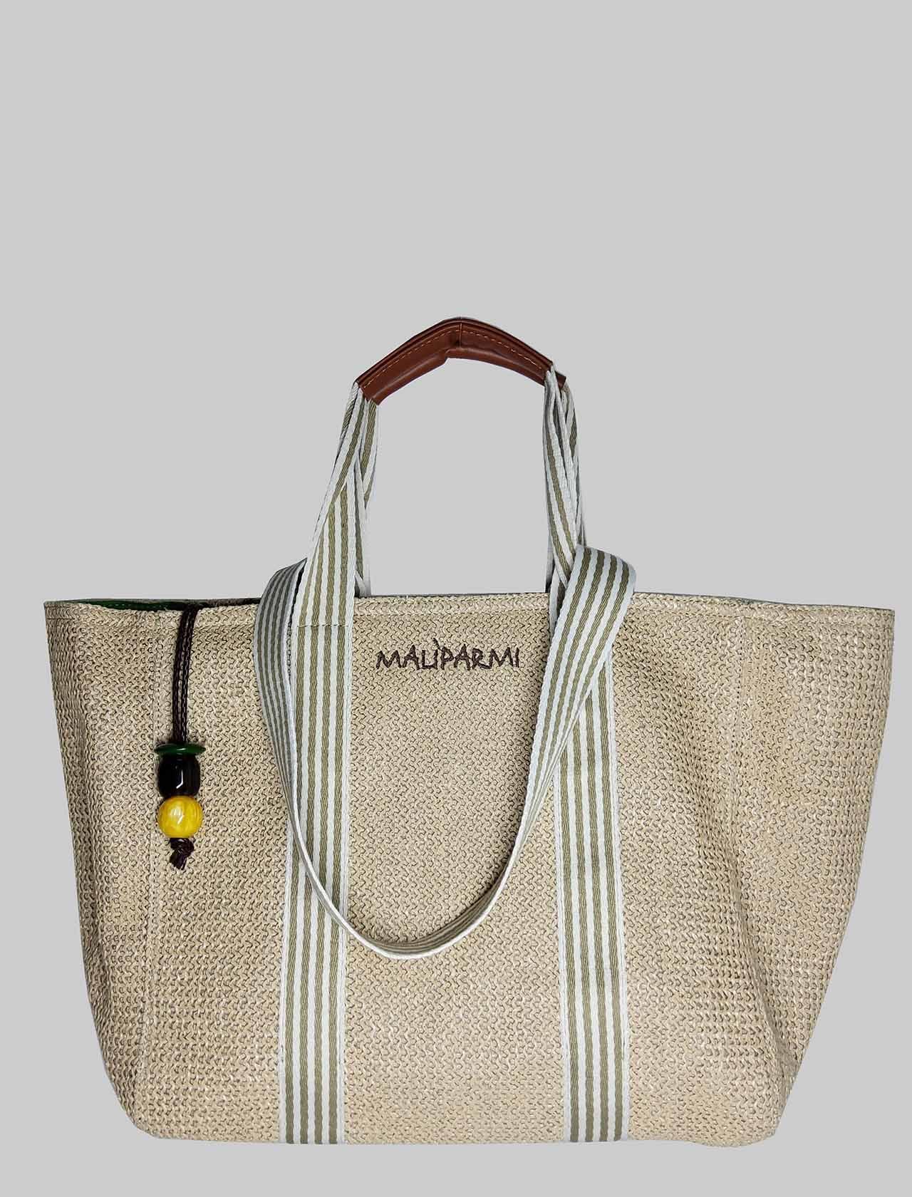 Borsa Donna Mare Shopping Summer in Rafia Naturale Maliparmi | Borse e zaini | BH02609078011000
