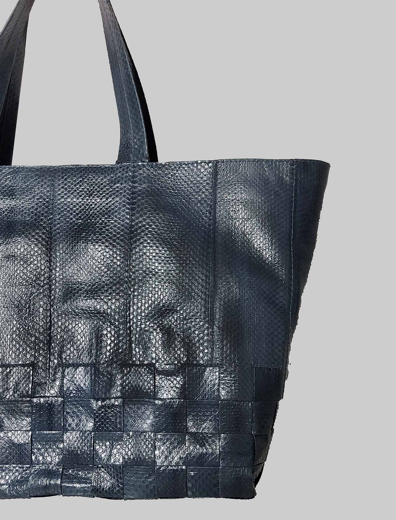 Large Exotic Woven Woman Shopping Bag in Blue Wips Maliparmi | Bags and backpacks | BH02620143680002