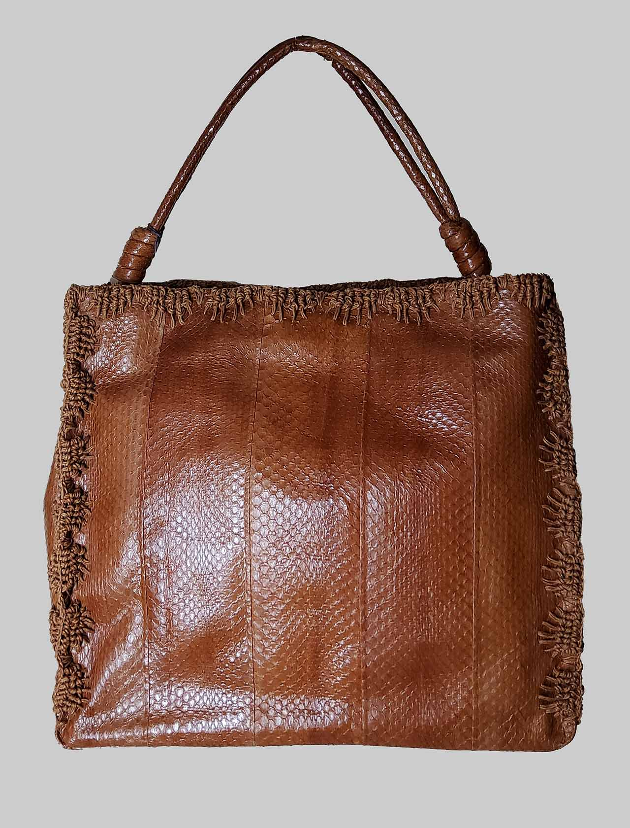 Large Woman Handbag Exotic Crochet in Leather Wips with Matching Stitching Maliparmi | Bags and backpacks | BI00220143840008