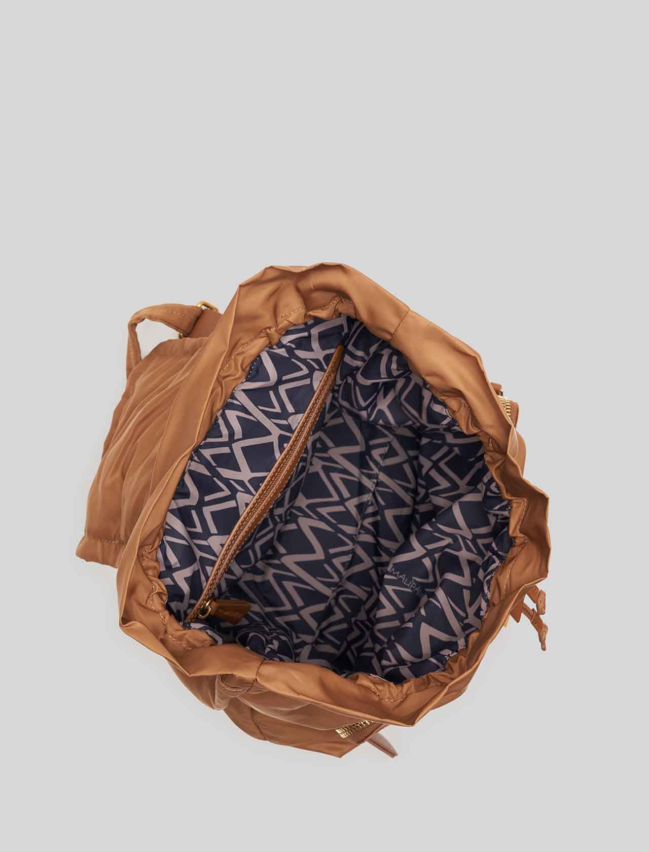 Woman Backpack in Biscuit Nylon with Double Pocket and Metello Clip Closure Maliparmi   Bags and backpacks   BZ00346004112071