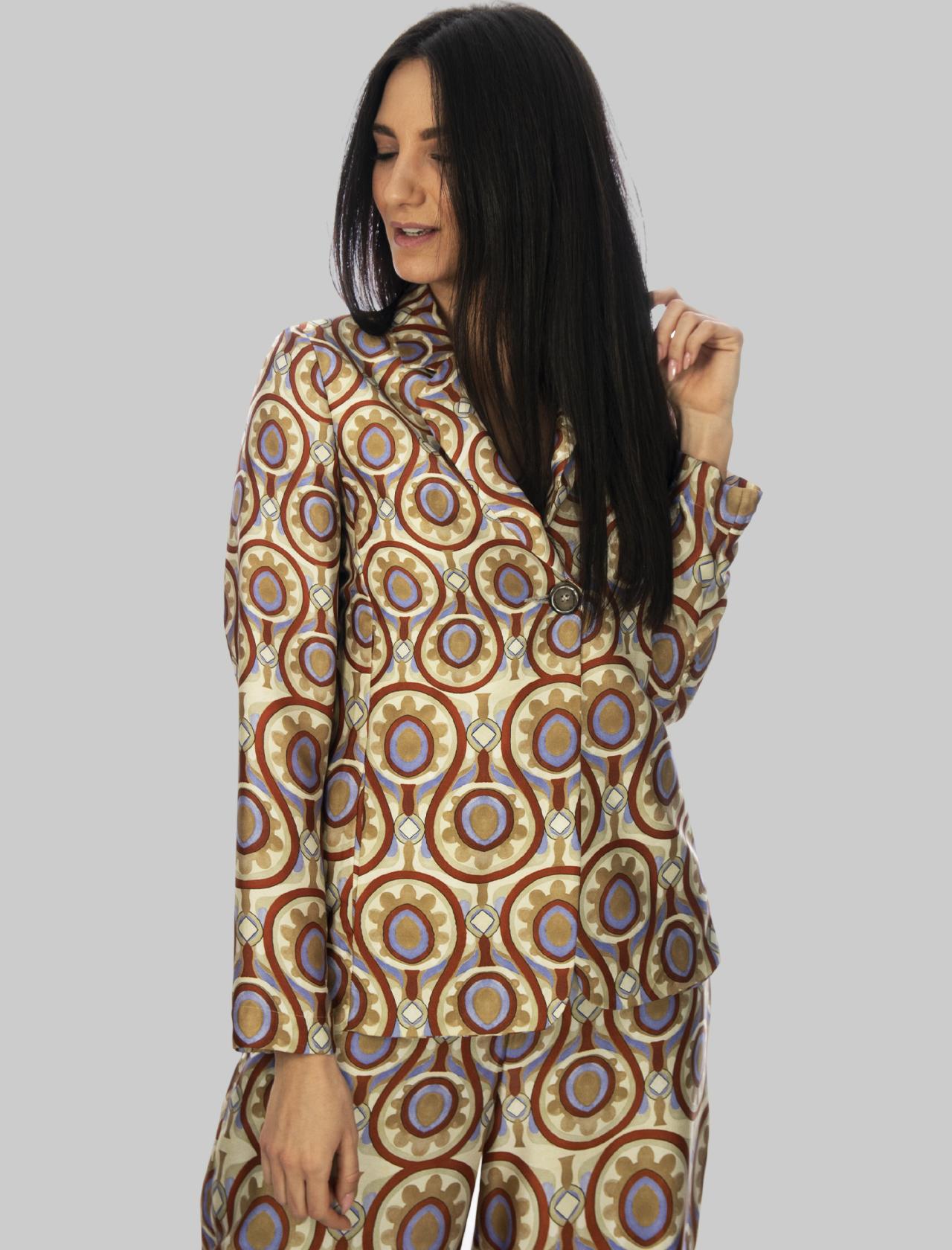 Abbigliamento Donna Giacca un Bottone Ottoman Twill in Beige e Malva Maliparmi | Giacche e giubbini | JD625560046B1229