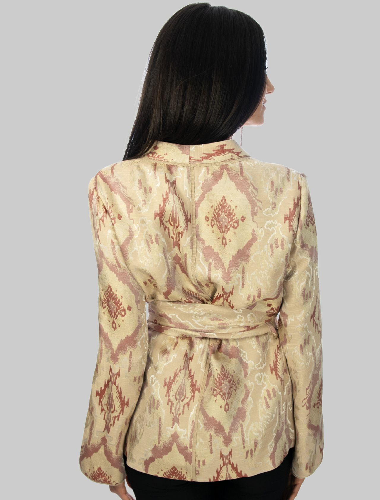 Women's Clothing Flora Light Jacquard Jacket in Natural Color and Embroideries Maliparmi | Jackets | JD639150559B1238
