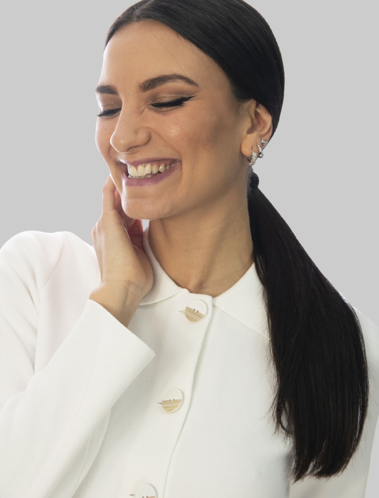 Abbigliamento Donna Giacca Camicia Unit Milano Stitch in Cotone Bianco 3 Bottoni Maliparmi | Giacche e giubbini | JD63937029810001