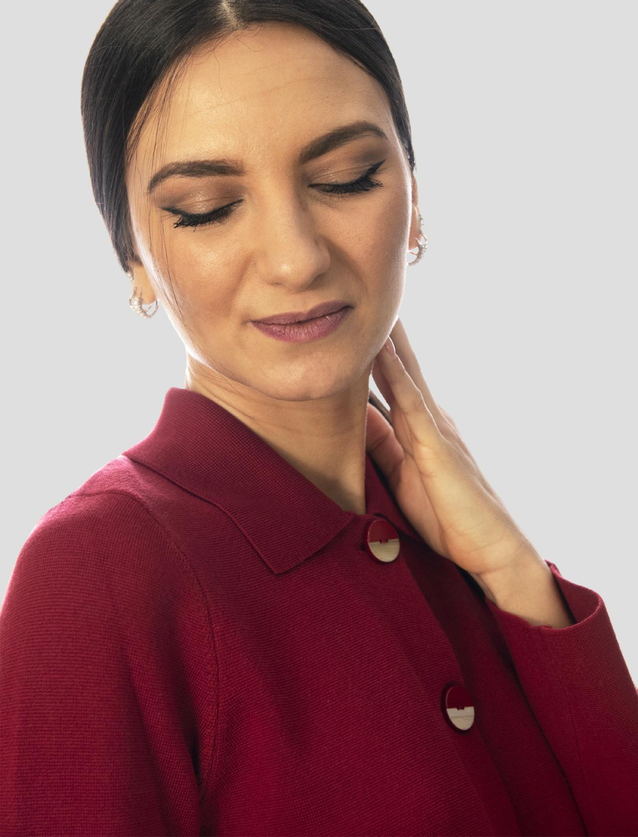 Abbigliamento Donna Giacca Camicia Unit Milano Stitch in Cotone Porpora 3 Bottoni Maliparmi | Giacche e giubbini | JD63937029830032