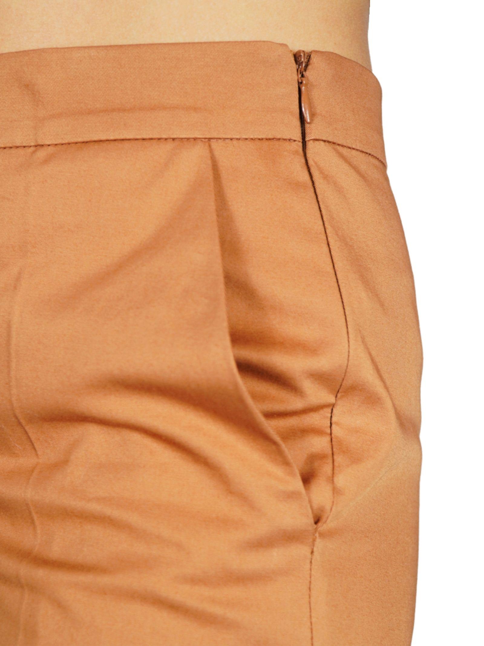 Women's Clothing Stretch Gabardine Trousers Ocher Maliparmi | Skirts and Pants | JH71441013612021