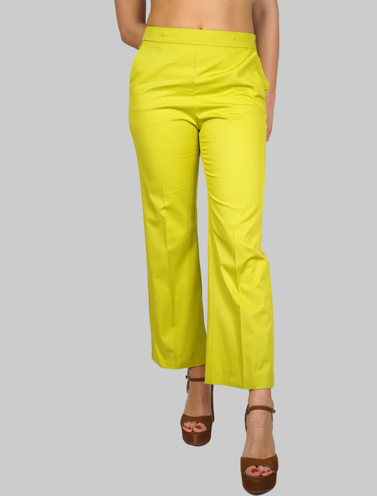Women's Clothing Stretch Gabardine Birch Pants Maliparmi | Skirts and Pants | JH71441013660120