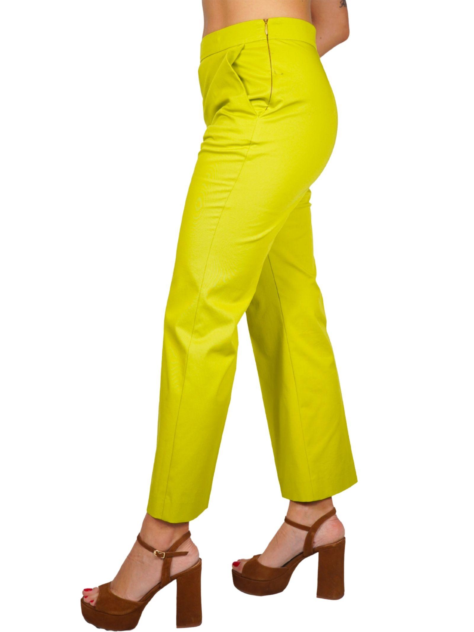 Abbigliamento Donna Pantalone Stretch Gabardine Betulla Maliparmi | Gonne e Pantaloni | JH71441013660120