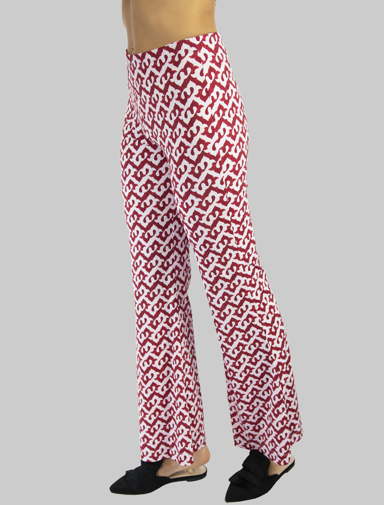 Women's Clothing Ceres Drop Trousers in Red and Pink Jersey Maliparmi | Skirts and Pants | JH719570498A3092