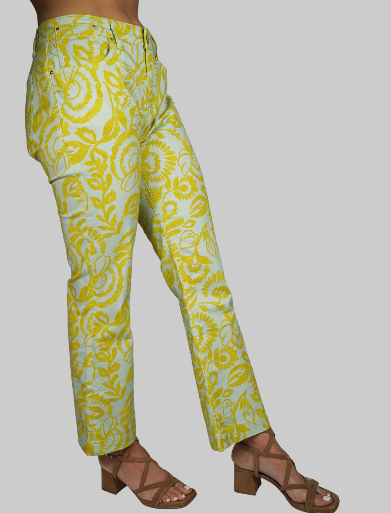 Women's Clothing Trombetta Trousers Soft Cotton Cashmere Blend Water Fantasy Print Maliparmi | Skirts and Pants | JH720410129C6018