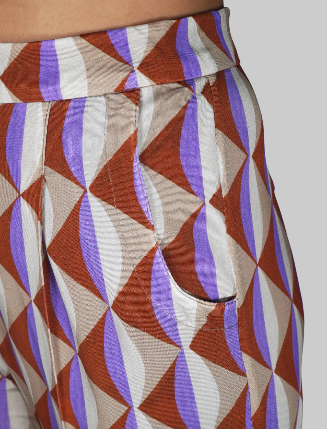 Abbigliamento Donna Pantalone Jersey Symmetria a Fantasia Naturale Maliparmi | Gonne e Pantaloni | JH737570496B1106