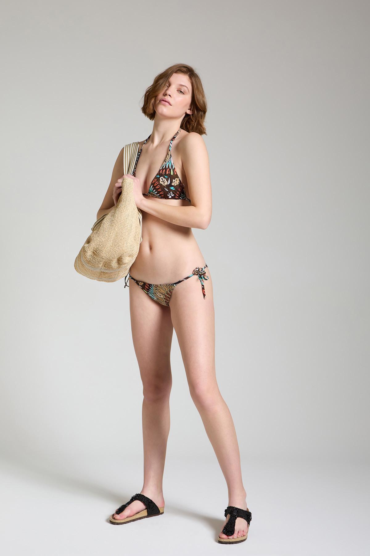 Moda mare Donna Costume Bikini Welcome Summer Taupe Maliparmi   Costumi   JJ104570407B4067