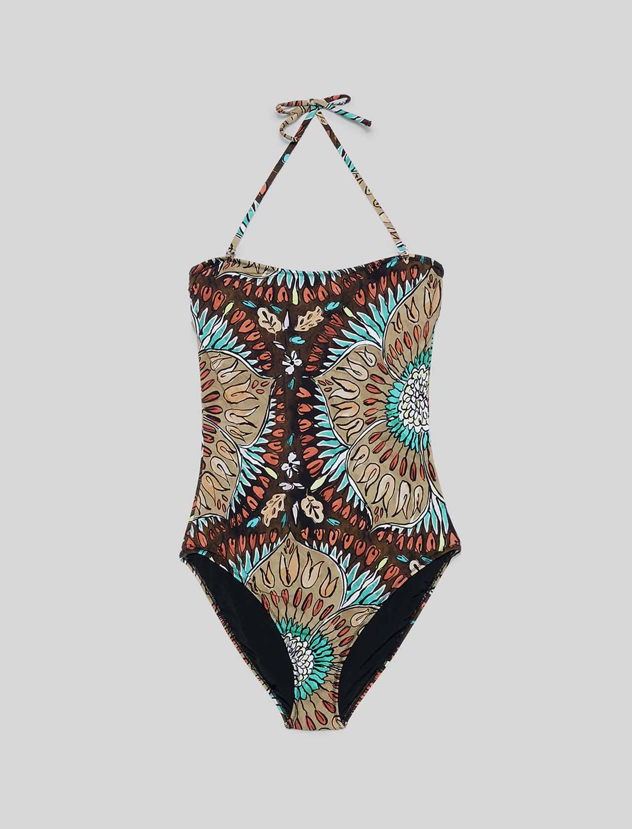Moda mare Donna Costume Intero Welcome Summer Marrone Maliparmi | Costumi | JJ104670407B4064