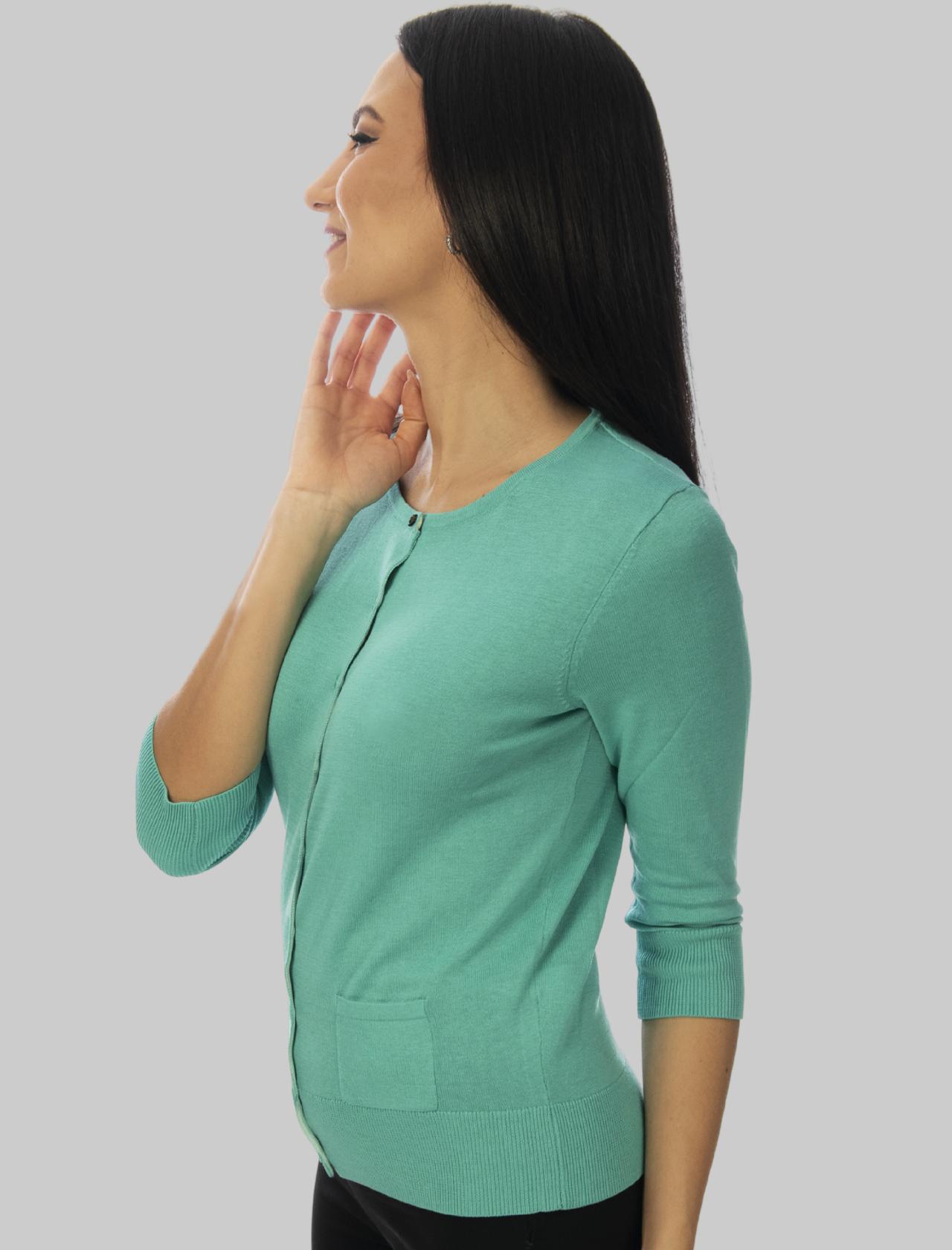 Abbigliamento Donna Cardigan Colours of the World in Seta e Cotone Turchese Maliparmi   Maglieria   JN21827807482012