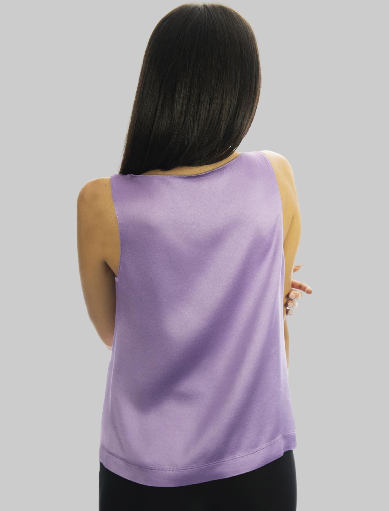 Abbigliamento Donna Top Liquid in Cady Glicine Giromanica con Scollo a Punta Maliparmi | Camicie e Top | JP53945012351036