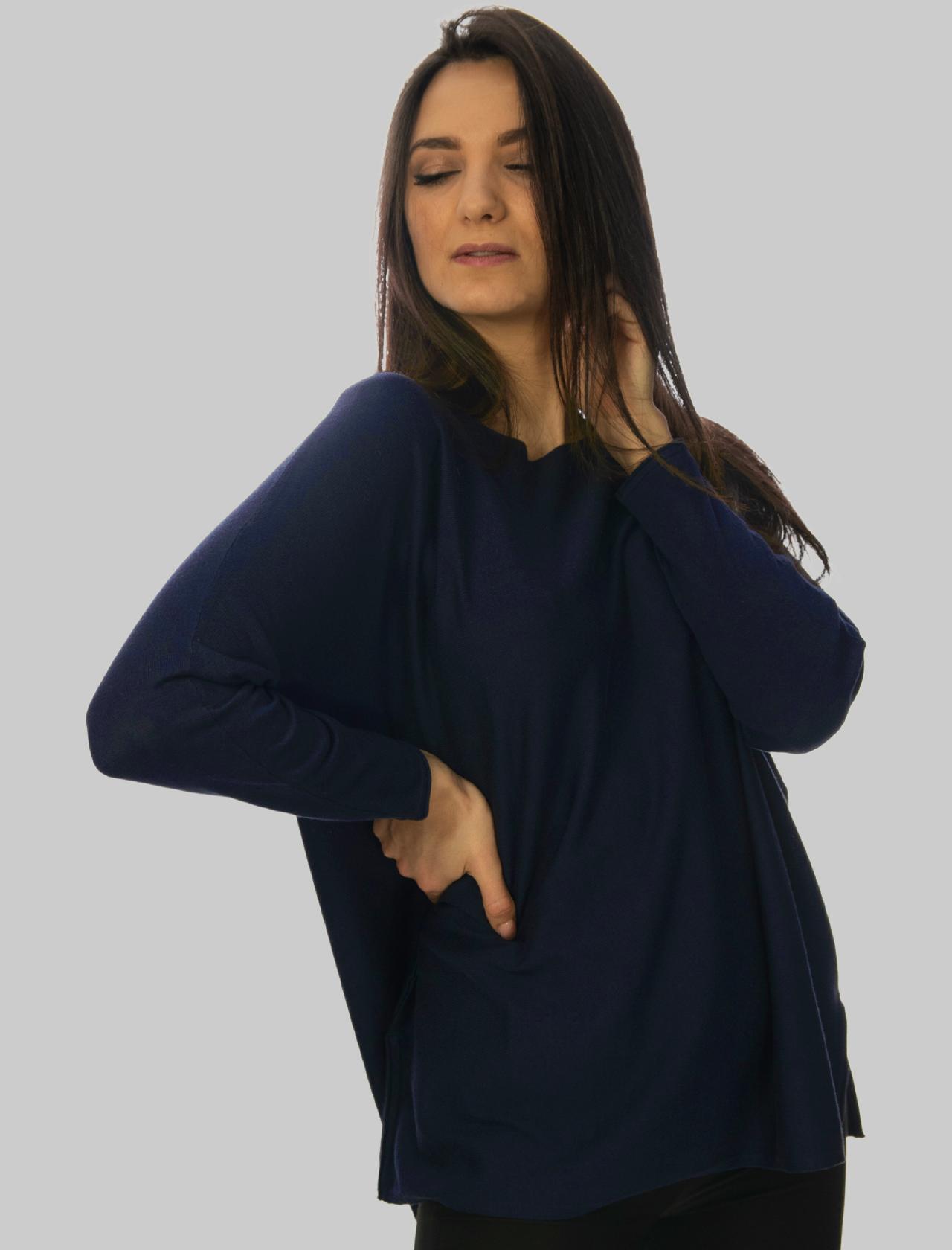 Abbigliamento Donna Maglia Smooth Spring in Cotone Rosso a Girocollo e Maniche Lunghe Maliparmi   Maglieria   JQ48667612880000