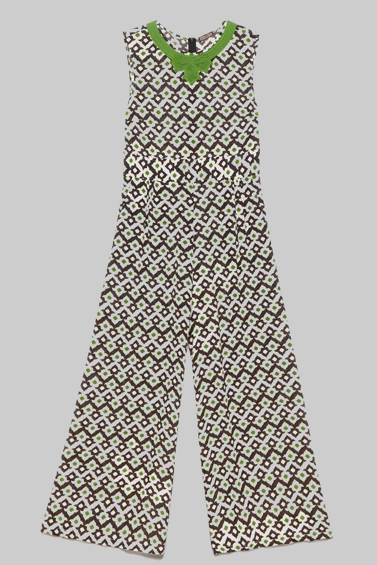 Abbigliamento Donna Abito Tuta Lunga Giromanica Vis Ceres Diamond Bianca e Nera a Fantasia Maliparmi | Abiti | JU001550552A1050