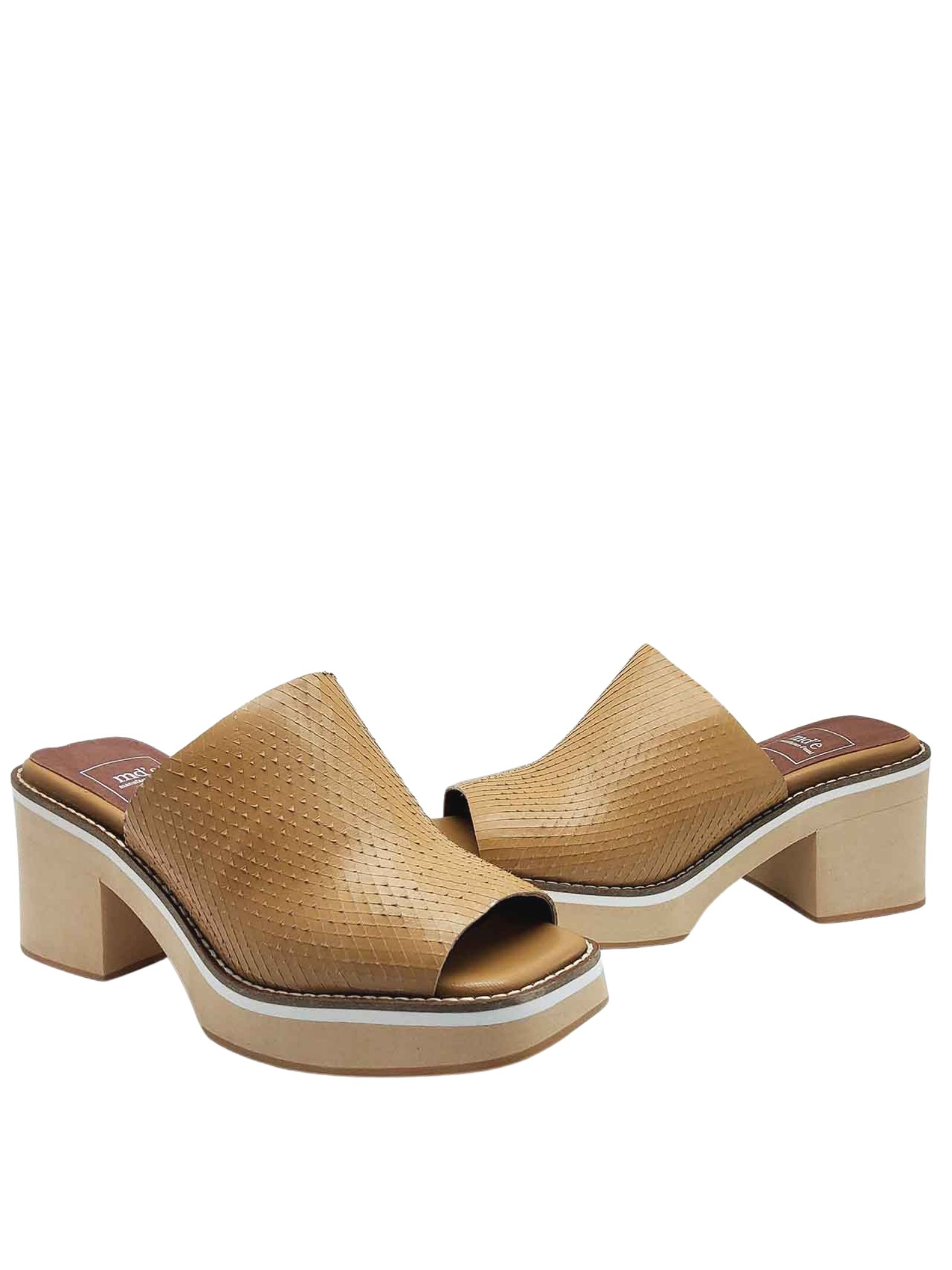 Women's Shoes Sandals in Wips Printed Leather with Ultra Light Wedge Heel Manufacture D'Essai   Wedge Sandals   43014