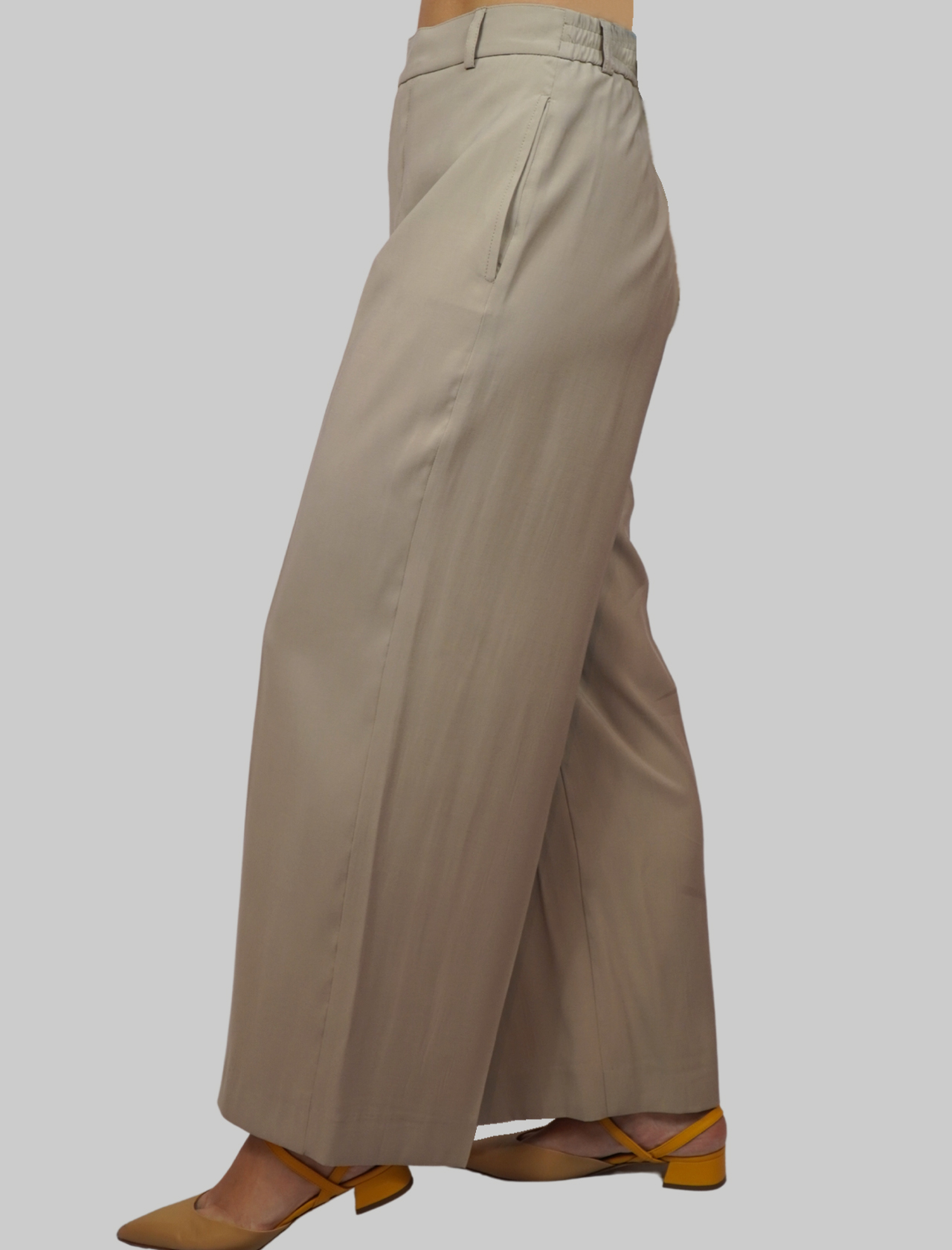 Women's Clothing Trousers in Beige Cupro Wide Elastic Fabric Mercì | Skirts and Pants | P245C015