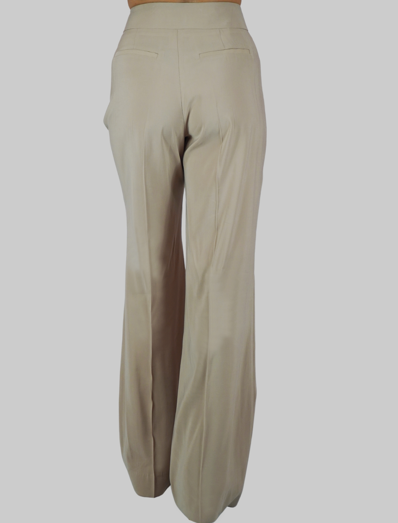 Women's Clothing Bow Pants in Wide Beige Fabric with Soft Fit Mercì | Skirts and Pants | P251U015