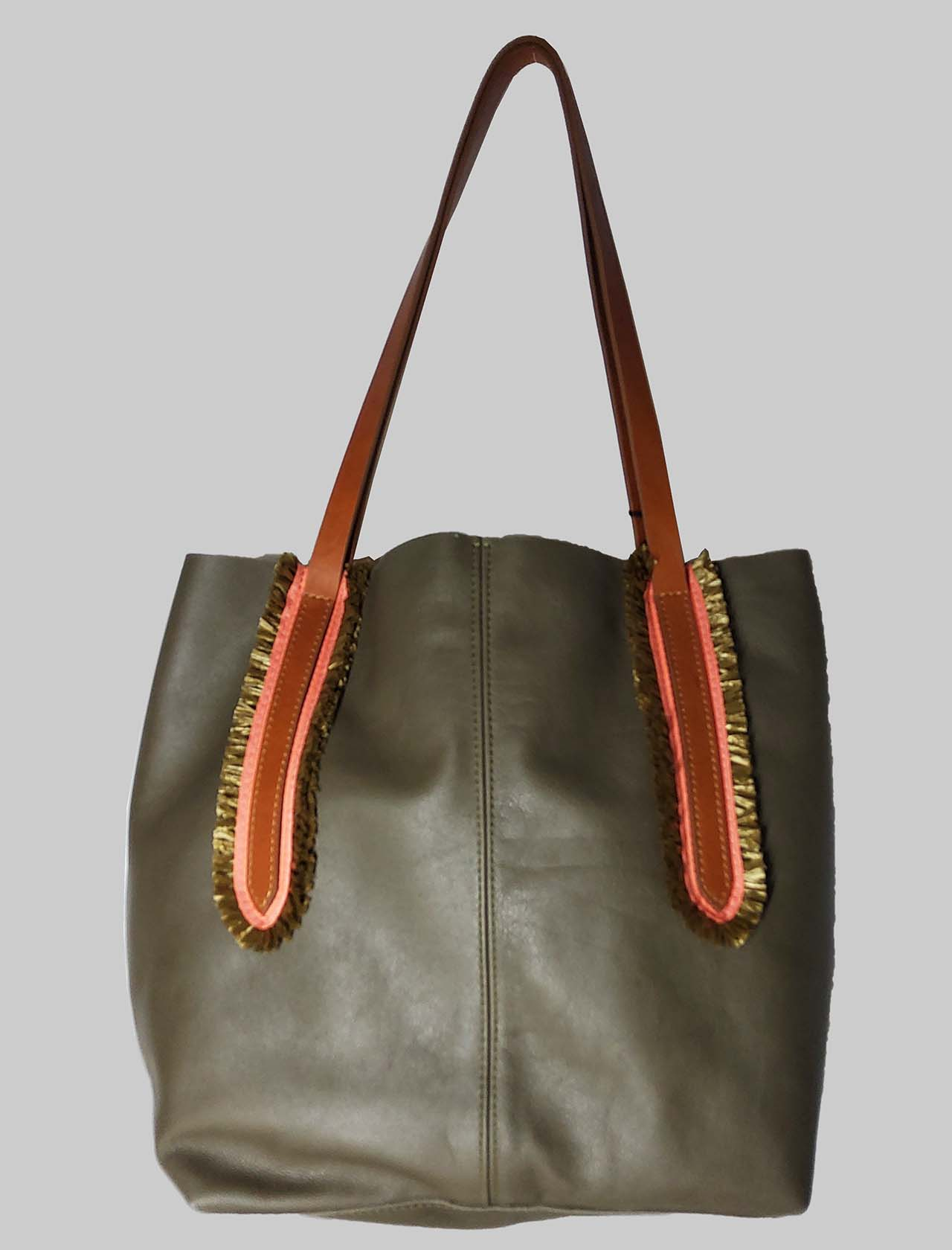 Woman Shoulder Bag in Green Leather with Double Handles in Natural Leather Nanni Milano | Bags and backpacks | NMINI25005