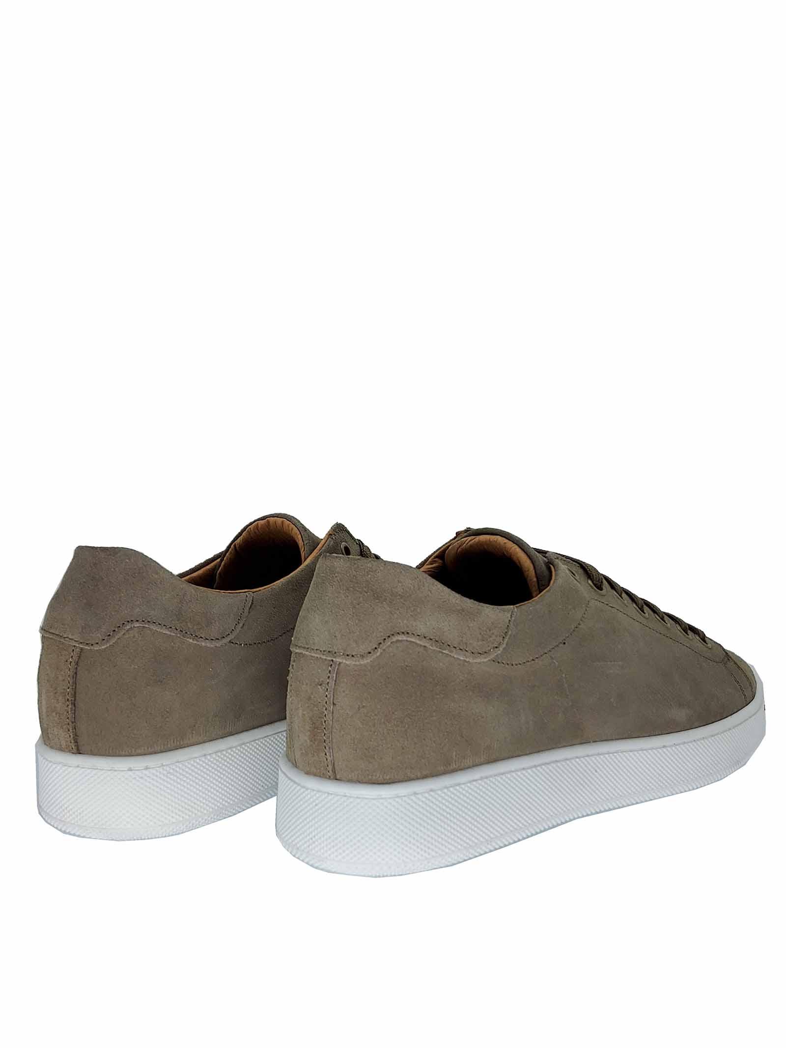 Calzature Uomo Sneakers in Camoscio Taupe con Fondo in Gomma Spatarella | Sneaker | 2011023
