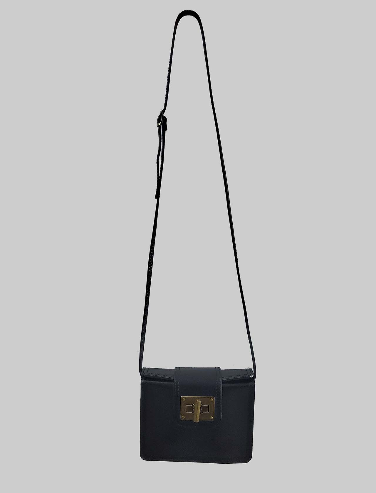 Women's Bags Clutch in Small Black Leather with Adjustable Leather Rigid Shoulder Strap Spatarella | Bags and backpacks | PE0204001