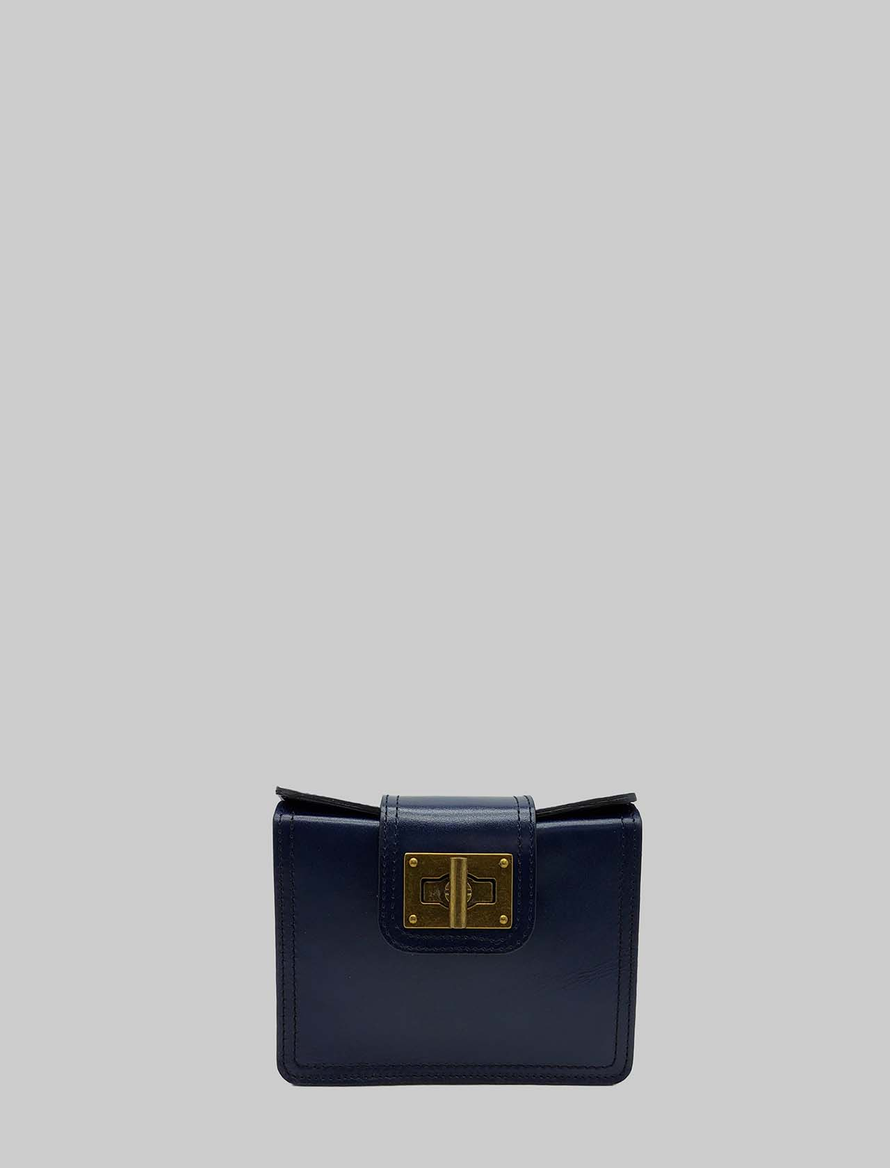 Women's Bags Clutch in blue Leather with Small Rigid Shoulder Strap in Adjustable Leather Spatarella | Bags and backpacks | PE0204002