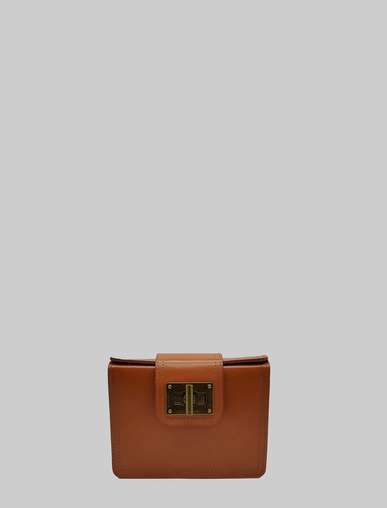 Borsa Donna Clutch Piccola in Pelle Arancio con Tracolla Regolabile in Tinta Spatarella   Borse e zaini   PE0204010