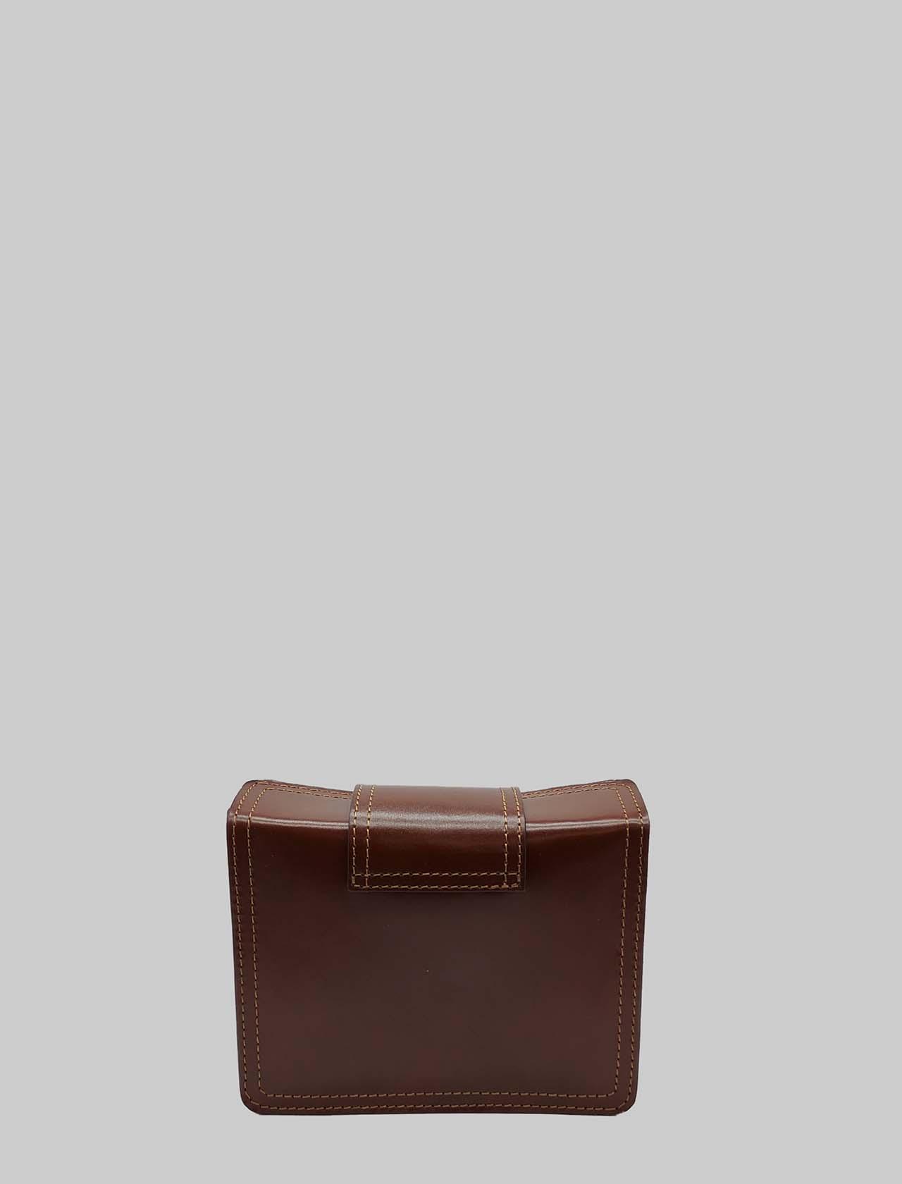 Borsa Donna Clutch Piccola in Pelle Cuoio con Tracolla Regolabile in Tinta Spatarella | Borse e zaini | PE0204014
