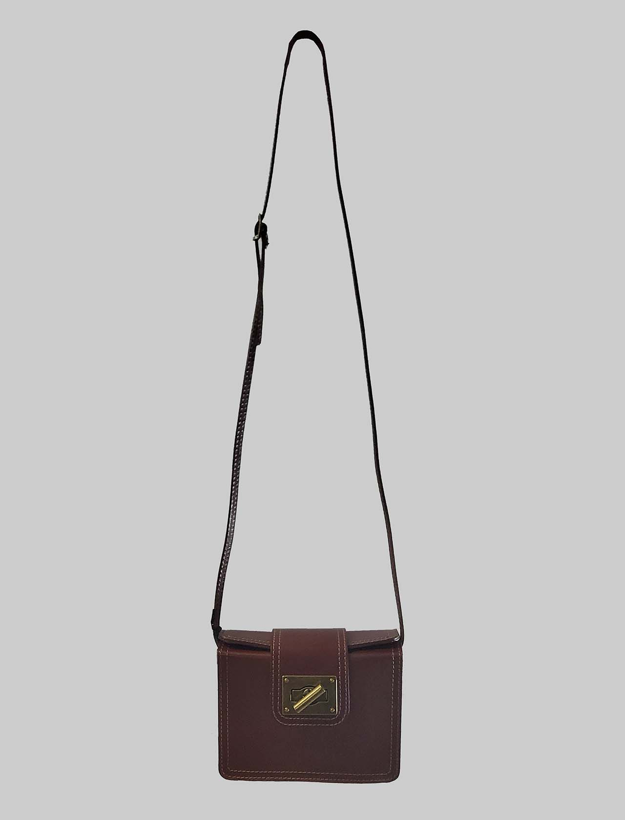 Women's Bags Small Leather Clutch Bag with Adjustable Leather Rigid Shoulder Strap Spatarella | Bags and backpacks | PE0204014