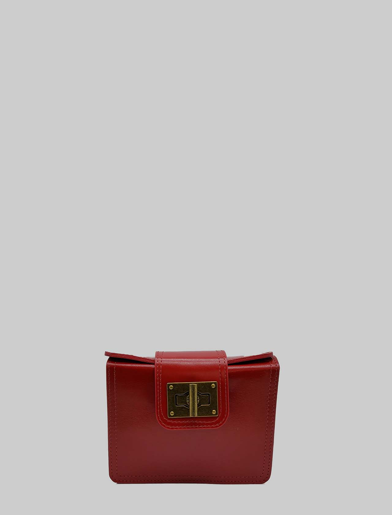 Women's Bags Clutch in Red Small Leather with Adjustable Leather Rigid Shoulder Strap Spatarella | Bags and backpacks | PE0204017