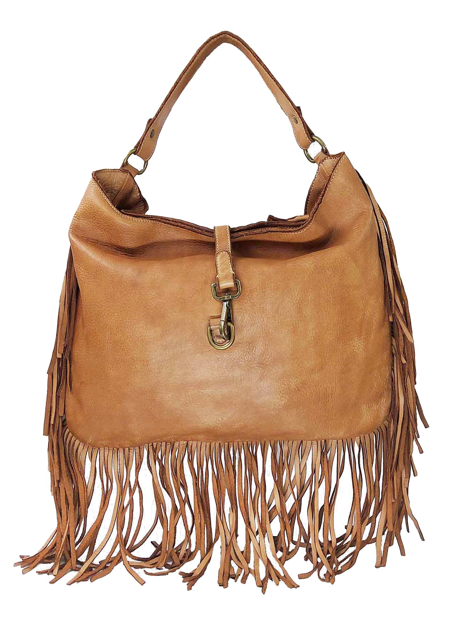 Shoulder Bags in Leather Leather Shopping with Fringes and Removable Shoulder Strap Spatarella | Bags and backpacks | PE0207014