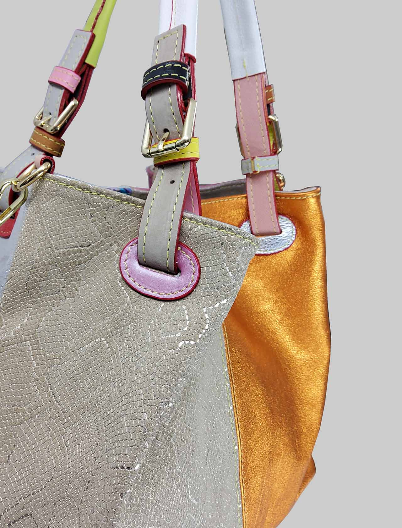 Woman Shoulder Bags Multicolor Patch with Double Handles and Double Removable Shoulder Strap Spatarella | Bags and backpacks | PE0210MULTI 1