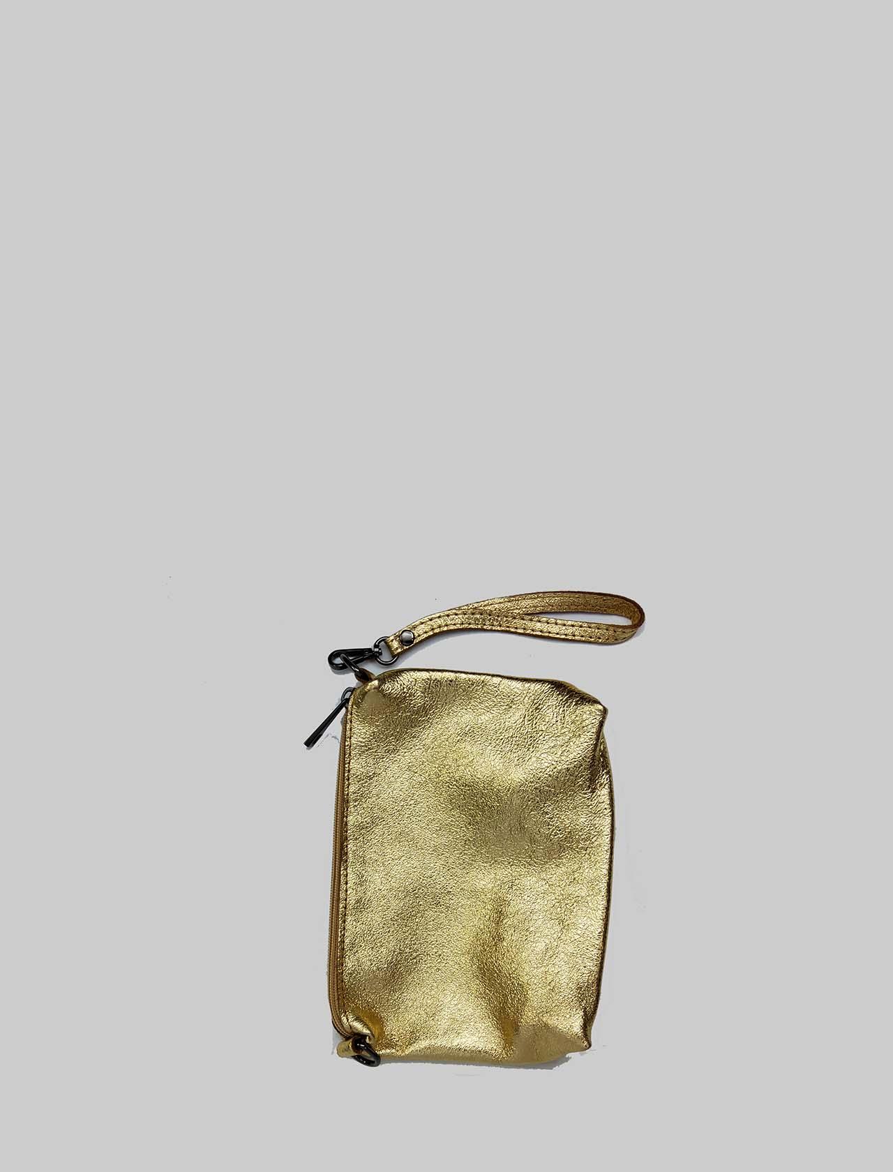 Borse Donna in Pelle Laminata Oro con Manici e Catena Bruniti Porstadocumenti in Tinta Spatarella | Borse e zaini | PE0505602
