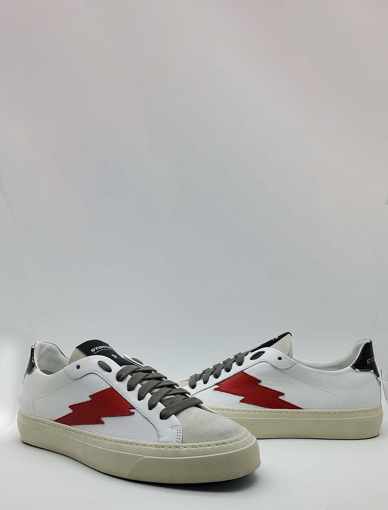 Calzature Uomo Sneakers in Pelle e Camoscio Off White con Logo Laterale e Fondo Vintage in Gomma Stokton   Sneakers   BLAZE-U100