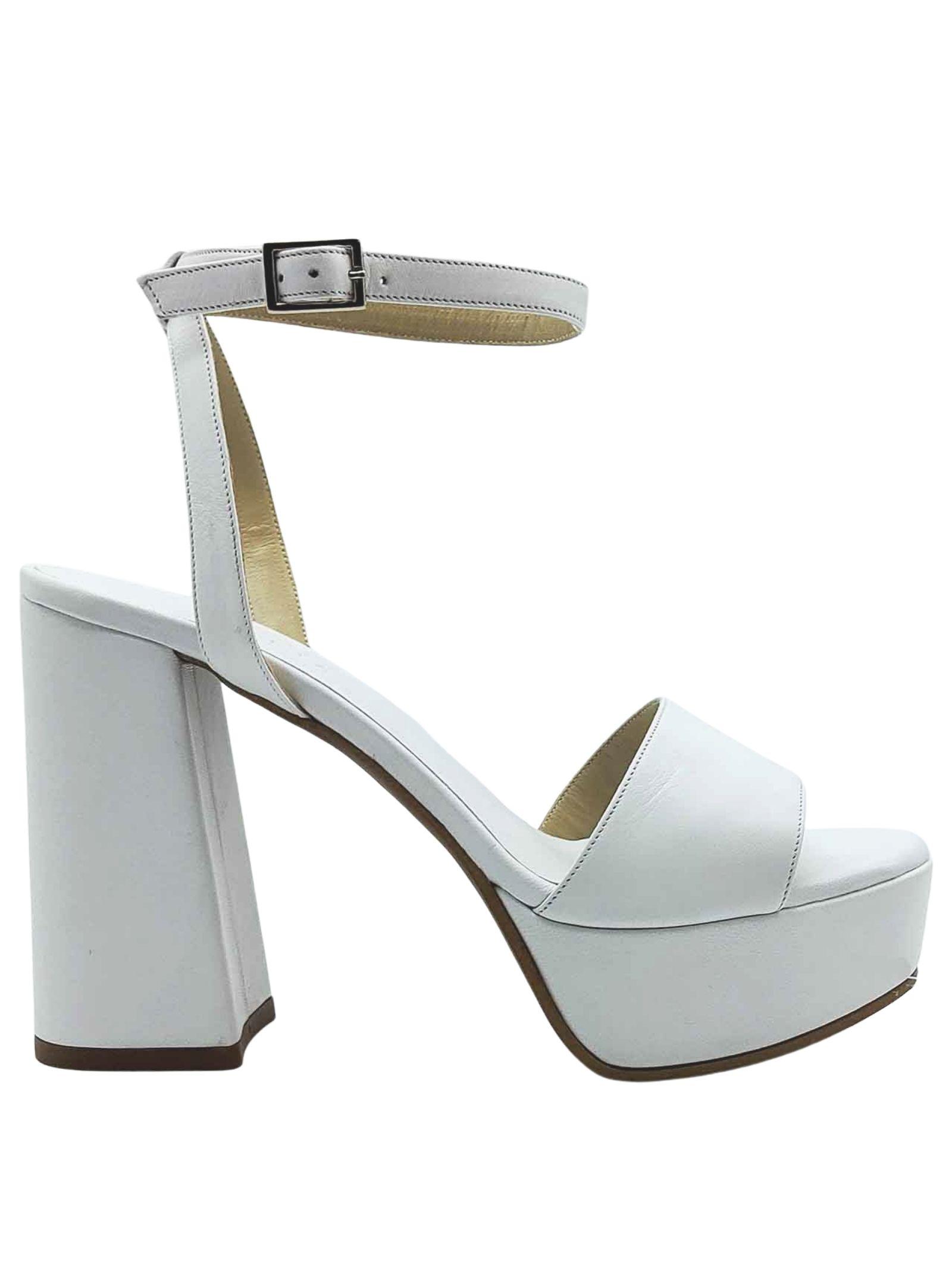 Calzature Donna Sandali Tacco Alto e Plateau in pelle Nera con Cinturino alla Caviglia Tattoo | Sandali | 122100