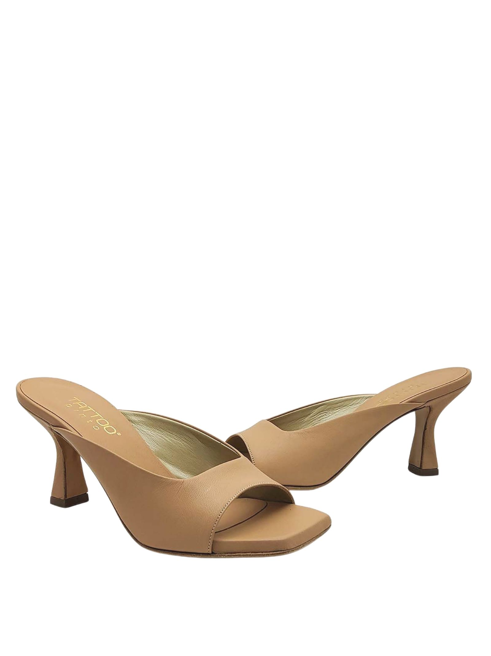Women's Shoes Barefoot Sandal in Nude Leather with Heel Tattoo   Sandals   7027300