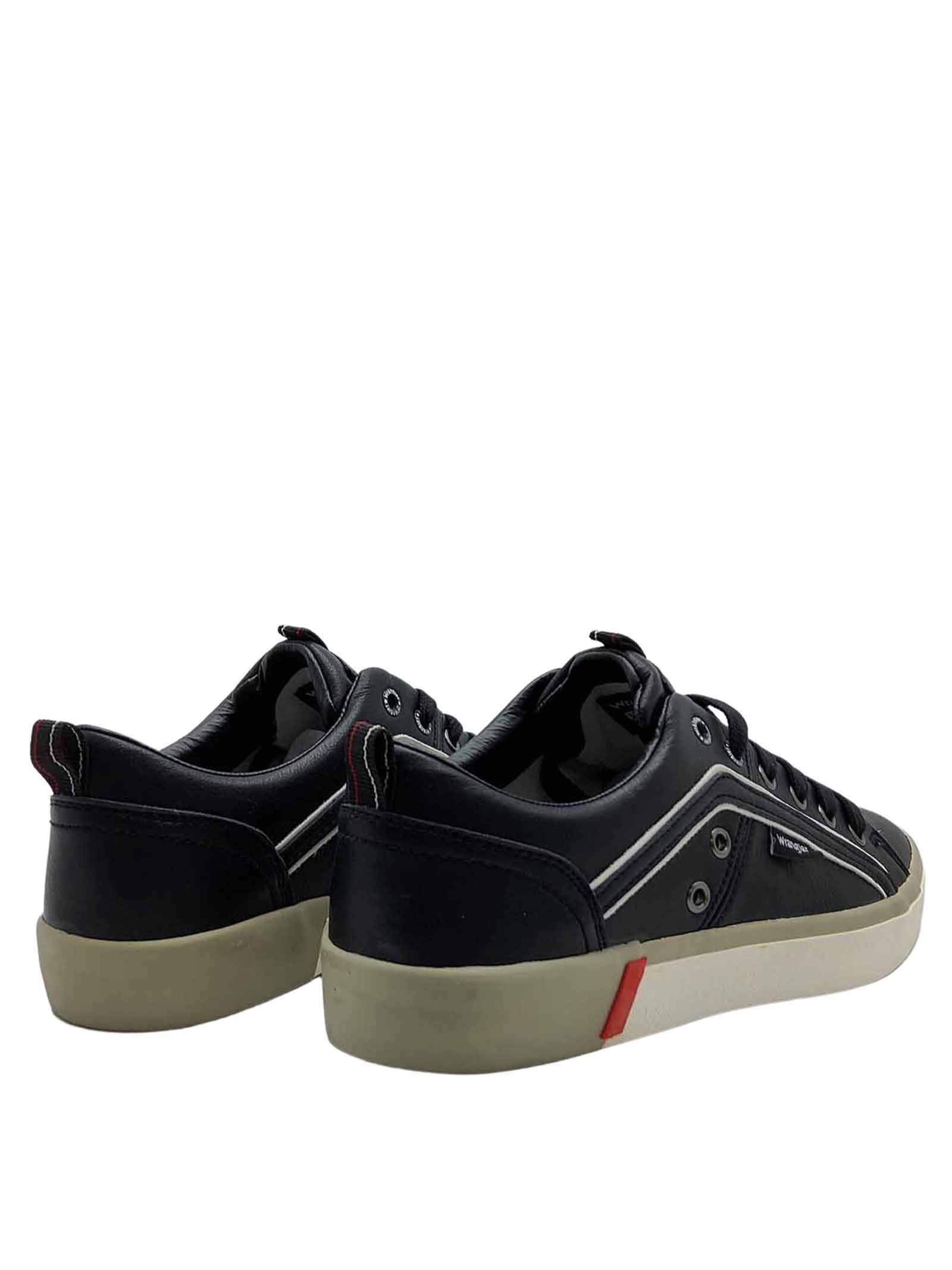 Men's Shoes Vegan Frisco Sneakers in Black Ecoleather and Rubber Bottom Wrangler   Sneakers   WM01033A062