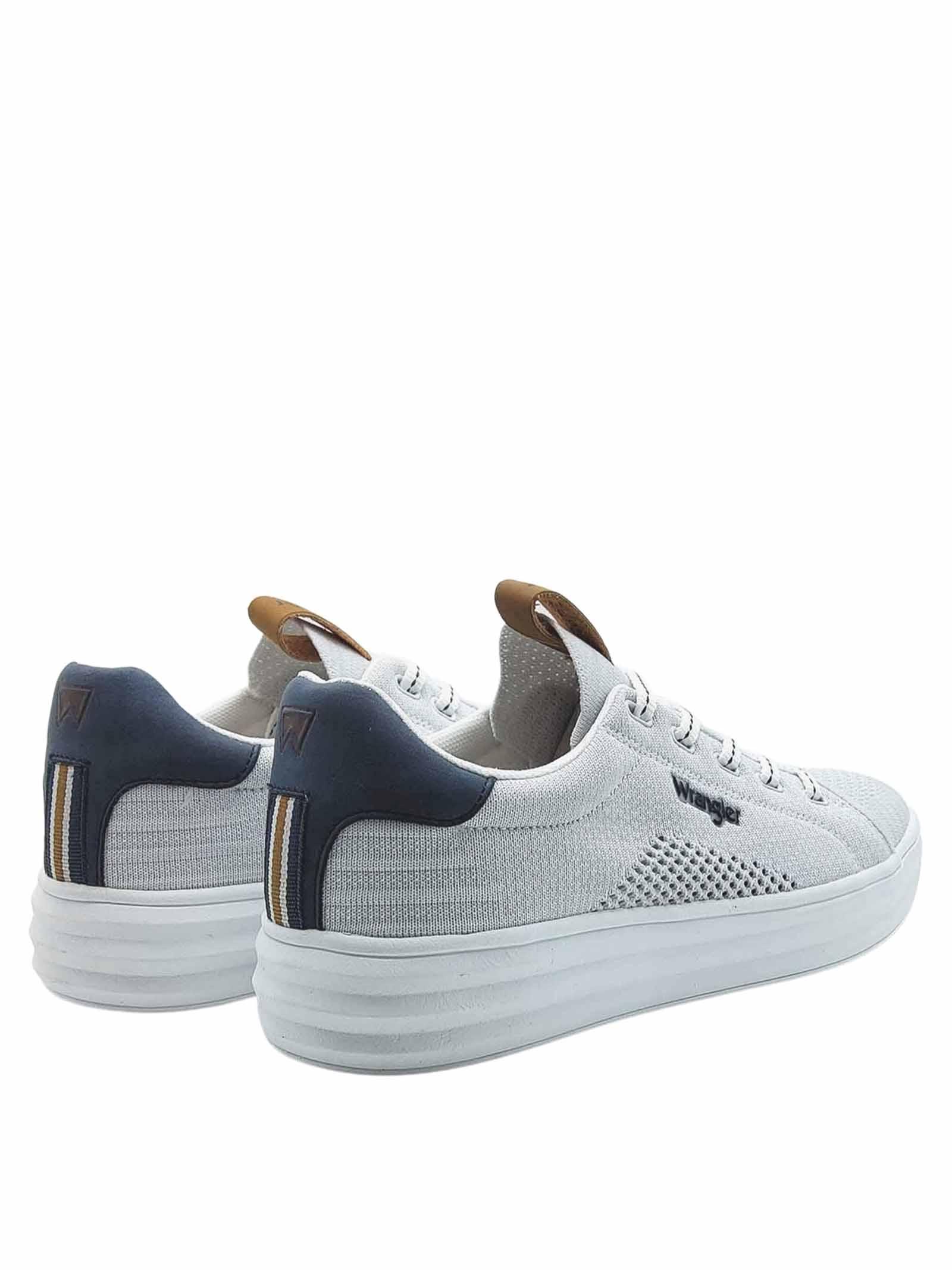 Calzature Uomo Sneakers Jelly Stringate in Tessuto Bianco e Suola in Gomma Bianca Ultra Leggera Wrangler   Sneakers   WM11000A100