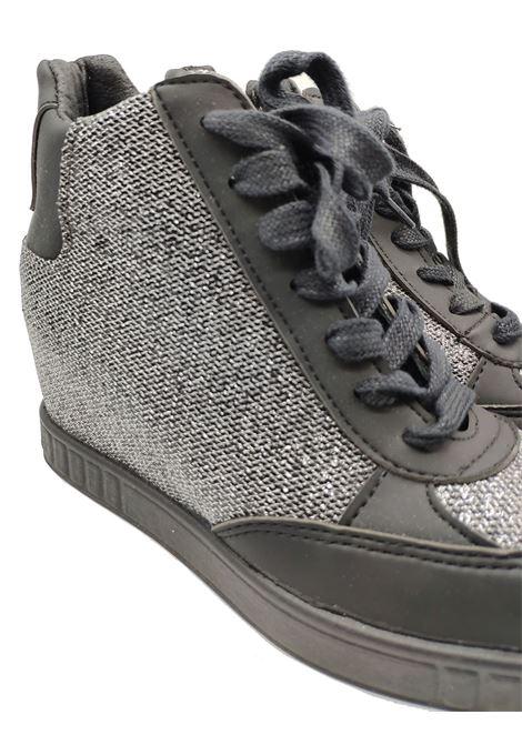 Sneakers Donna Stivaletto Glitter Woz | Sneakers | ART10DM1985NERO/ACCIAIO
