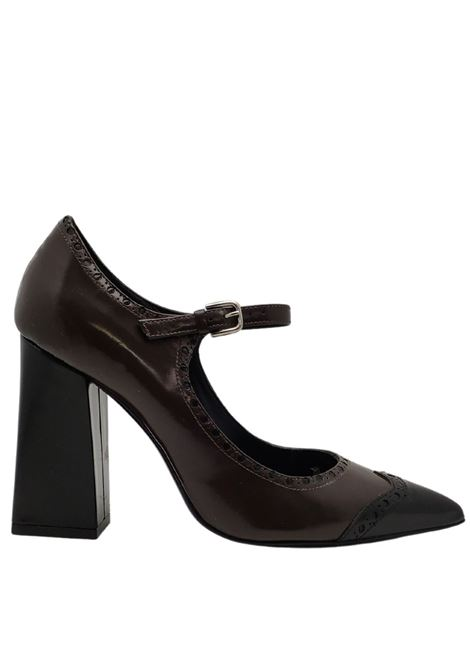 Two-tone Décolleté Woman Strap Festa | Pumps | ART109321MARRONE/NERO