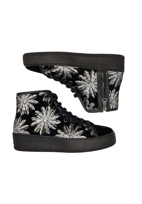 Sneakers Donna Stivaletto Velluto Stokton | Sneakers | 620-DNERO/ARGENTO