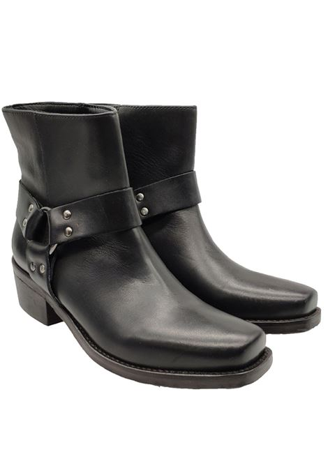 Texan Women's Ankle Boots Punta Quadra Zoe | Ankle Boots | 0043NERO