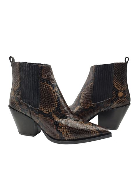 Women's Texan Ankle Boots Bruno Premi | Ankle Boots | BY6305XPITONE MORO/NERO